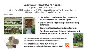 Curb Appeal -Library announc.