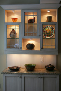 kitchen addition custom display cabinet