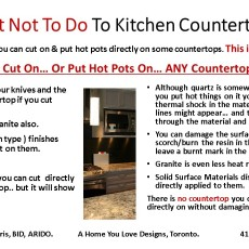 Kitchen Counter Top Truths